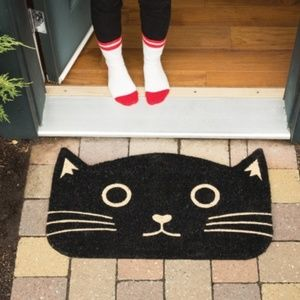 Now Designs Accents - SOLD! Black Cat Door Mat by Now Designs